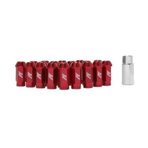 Mishimoto Mishimoto Aluminum Locking Lug Nuts, M12 x 1.25, Red MMLG-125-LOCKRD