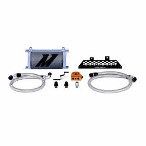 Mishimoto Ford Focus ST Oil Cooler Kit, 2013-2018 Silver Thermostatic MMOC-FOST-13T