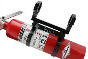 """Deviant Race Parts QD Fire Extinguisher Mount With Extinguisher for 2.0"""" Roll bar 60614"""
