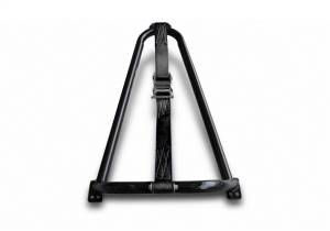N-Fab Textured Black Bed Mounted Tire Carrier w/Black Strap BM1TCBK-TX