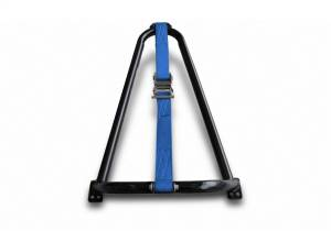N-Fab Textured Black Bed Mounted Tire Carrier w/Blue Strap BM1TCBL-TX
