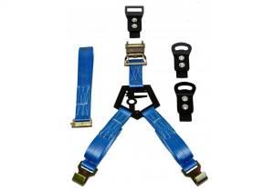 N-Fab - N-Fab Gloss Black Bed Mounted Rapid Strap Tire Carrier w/Blue Strap BM1TSBL