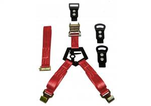 N-Fab - N-Fab Gloss Black Bed Mounted Rapid Strap Tire Carrier w/Red Strap BM1TSRD