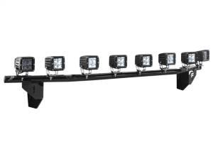 N-Fab Light Mounting-Light Bar (1-30) w/Multi-Mnt-99-02 Silv-TX Blk C9930LD-TX