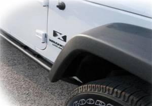 N-Fab RKR Rails-Cab Len (2 Steps)-07-18 Wrangler JK 2Dr-TX Blk J072RKR