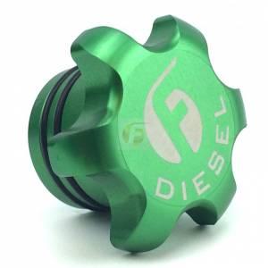 Green Anodized Billet Fuel Cap For 2013-2018 Cummins Fleece Performance