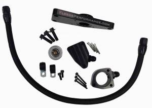 Hoses and Pipes - Engine Coolant Bypass Hose - Fleece Performance - Cummins Coolant Bypass Kit 2003-2007 Manual Transmission Fleece Performance