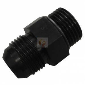 -4 to 7/16 inch -20 Straight Male Black with O-Ring Fleece Performance