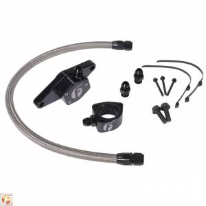Hoses and Pipes - Engine Coolant Bypass Hose - Fleece Performance - Cummins Coolant Bypass Kit VP 98.5-02 with Stainless Steel Braided Line Fleece Performance