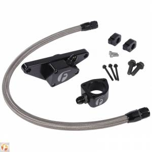 Hoses and Pipes - Engine Coolant Bypass Hose - Fleece Performance - Cummins Coolant Bypass Kit 7.5-18 6.7L with Stainless Steel Braided Line Fleece Performance
