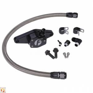 Hoses and Pipes - Engine Coolant Bypass Hose - Fleece Performance - Cummins Coolant Bypass Kit 12V 94-98 with Stainless Steel Braided Line Fleece Performance