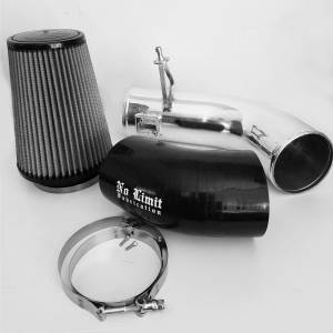 6.7 Cold Air Intake Polished Dry Filter 2017-Present No Limit Fabrication