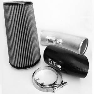 6.7 Cold Air Intake 11-16 Ford Super Duty Power Stroke Raw Dry Filter Stage 1 No Limit Fabrication