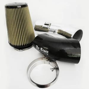 6.7 Cold Air Intake 11-16 Ford Super Duty Power Stroke Polished PG7 Filter Stage 1 No Limit Fabrication