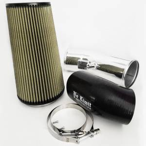 6.7 Cold Air Intake 11-16 Ford Super Duty Power Stroke Polished PG7 Filter Stage 2 No Limit Fabrication