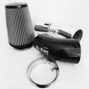 6.7 Cold Air Intake 11-16 Ford Super Duty Power Stroke Polished Dry Filter Stage 1 No Limit Fabrication