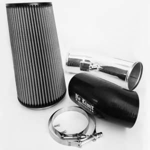 6.7 Cold Air Intake 11-16 Ford Super Duty Power Stroke Polished Dry Filter Stage 2 No Limit Fabrication