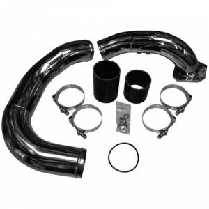 6.4 Coldside Kit 08-10 Ford Super Duty Power Stroke Stainless Raw No Limit Fabrication
