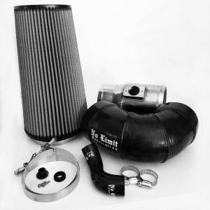 6.4 Cold Air Intake 08-10 Ford Super Duty Power Stroke Polished Dry Filter No Limit Fabrication