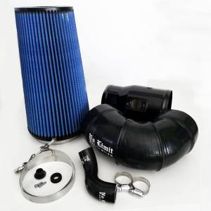 6.4 Cold Air Intake 08-10 Ford Super Duty Power Stroke Black Oiled Filter for Mod Turbo 5 Inch Inlet No Limit Fabrication