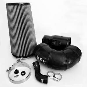 6.4 Cold Air Intake 08-10 Ford Super Duty Power Stroke Black Dry Filter for Mod Turbo 5.5 Inch Inlet No Limit Fabrication