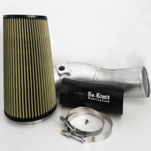 6.0 Cold Air Intake 03-07 Ford Super Duty Power Stroke Raw PG7 Filter No Limit Fabrication