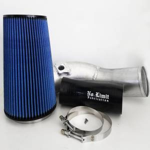 6.0 Cold Air Intake 03-07 Ford Super Duty Power Stroke Raw Oiled Filter No Limit Fabrication