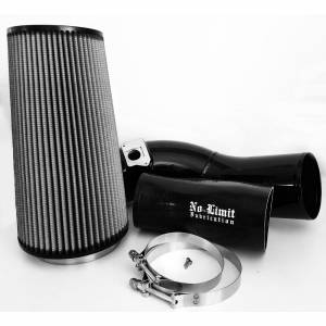 6.0 Cold Air Intake 03-07 Ford Super Duty Power Stroke Black Dry Filter No Limit Fabrication