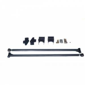 Uncategorized - No Limit Fabrication - Premium 2.0 Inch Diameter Traction Bars Black Semi Gloss Powder Coat for 05-20 Ford Superduty Long Bed with 4.0 Inch Per Axle No Limit Fabrication