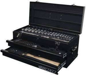 Boxo Usa 113 Piece Metric Tool Set With 2 Drawer Hand Carry Box