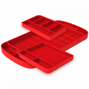 Tool Tray Silicone 3 Piece Set Color Red S&B
