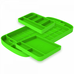Tool Tray Silicone 3 Piece Set Color Lime Green S&B