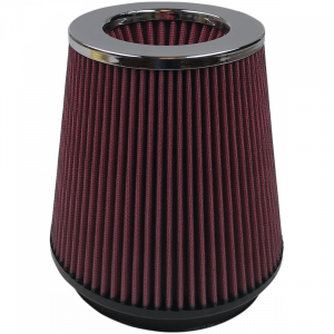 Air Filter For Intake Kits 75-2557 Oiled Cotton Cleanable 6 Inch Red S&B
