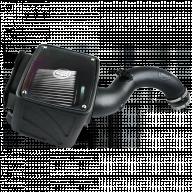 Cold Air Intake For 04-05 Chevrolet Silverado GMC Sierra V8-6.6L LLY Duramax Dry Extendable White S&B