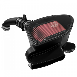 Cold Air Intake For 10-14 VW 2.0L TDI , 2015 VW Jetta 2.0L TDI Cotton Cleanable Red S&B