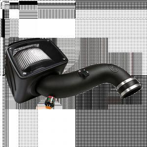 Cold Air Intake For 07-10 Chevrolet Silverado GMC Sierra V8-6.6L LMM Duramax Dry Extendable White S&B