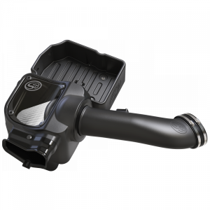 Cold Air Intake For 17-19 Ford F250 F350 V8-6.7L Powerstroke Dry Extendable White S&B