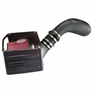 Cold Air Intake For 07-08 GMC Yukon Oiled Cotton Cleanable Red S&B
