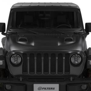 Jeep Air Hood Scoops for 18-20 Wrangler JL Rubicon 2.0L, 3.6L, 2020 Jeep Gladiator 3.6L Scoops Only Kit S&B